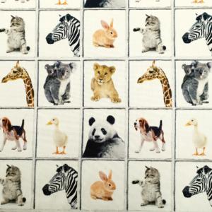 Decoratie stof dieren print
