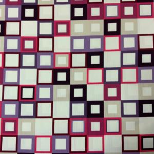 Decoratie stof retro vierkanten
