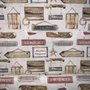 Decoratie stof houten uithangbord