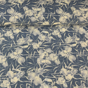 Decoratie stof blauw ecru