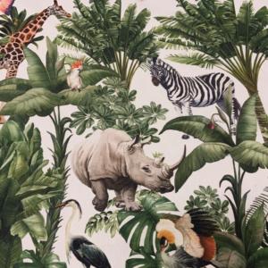 Decoratie stof dieren jungle print