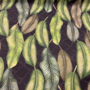 Decoratie stof bladeren print