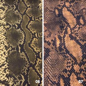 Decoratie stof slangen print