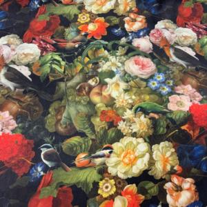 Decoratie stof bloemen schilderij print