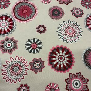 Decoratie stof mandala bloem print