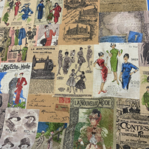 Decoratie stof mode journaal print