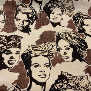 Decoratie stof Africaanse dame