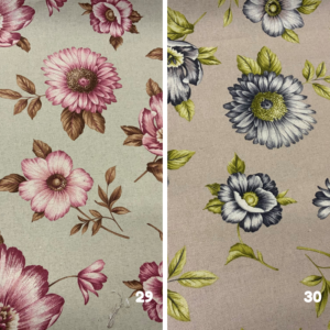 Decoratie stof bloemen print
