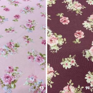 Decoratie stof rozen print