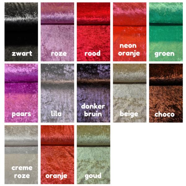 Velours effen kleuren