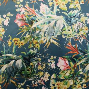 Digitale print velvet tropisch