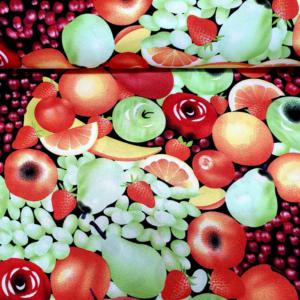 Carnaval stof fruit print