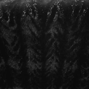 Imitatie bont visgraat zwart