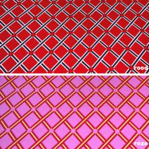 Katoen stof raster meerkleurig