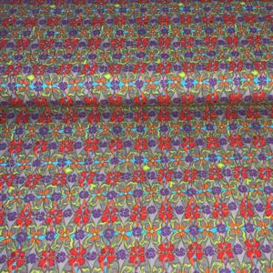 Katoen stof bloemen veld
