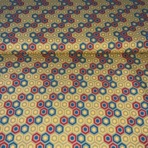 Katoen stof geometrisch honingraat
