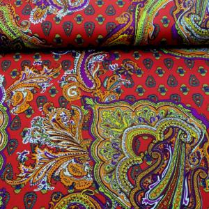 Carnaval stof paisley print