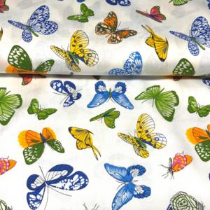 Viscose katoen stof vlinder print