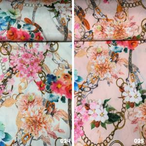Travel kettingen met bloemen print