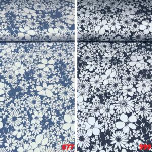 Viscose katoen bloemen print