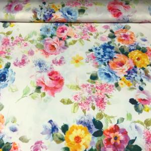 Spandex bloemen stof