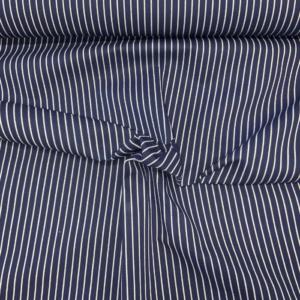 Koks blauw witte streep stof