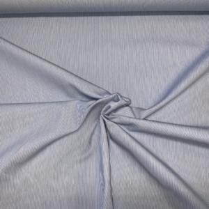 Koks lichtblauw wit streep stof