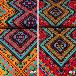 Viscose stof Aztec print