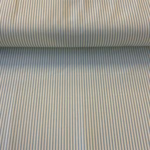 Streep wit lichtblauw bedrijfskleding stof