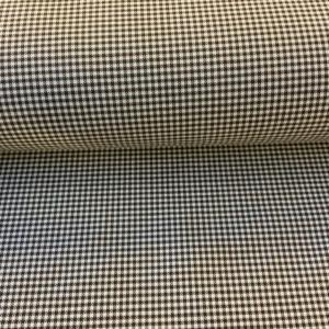 Bedrijfskleding stof bruin ruitje