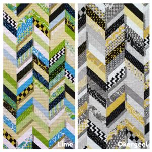 Decoratie stof geometrisch patchwork