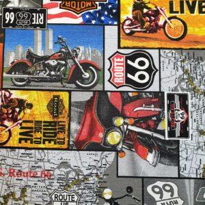 Decoratie stof route 66
