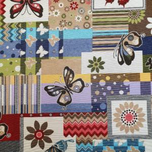 Gobelin meubelstof vlinder patchwork