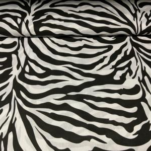Katoen tijger zwart wit stof