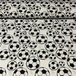 Katoen voetbal zwartwit print