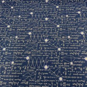 Decoratiestof wiskundige som print
