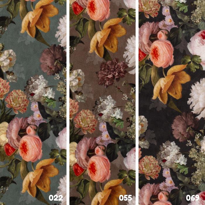 Digitale print velvet rozen