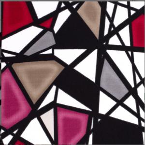 Viscose abstracte print stof