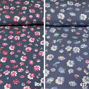 Viscose chambray bloemetje stof