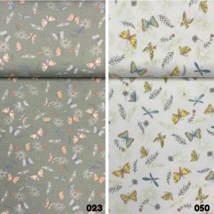 Tricot stof vlinder print