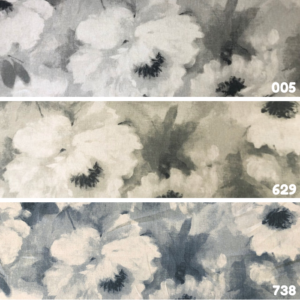 Decoratiestof linnen bloem print