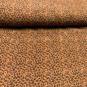 Stretch ribcord cheetah print